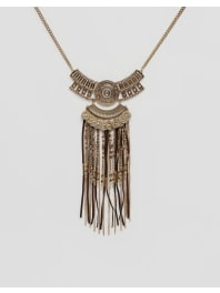 New LookBronzed Tassel Festival Necklace - Gold