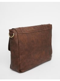 New LookSatchel With Strap In Brown - Brown
