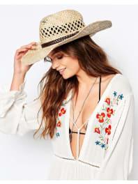 New LookWestern Straw Hat - Stone