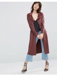 OnlyJennifer - Trench-coat en imitation daim - Rouge