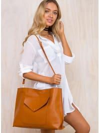 Princess PollyWomens Tan Fake Empire Tote Bag Tan One Size