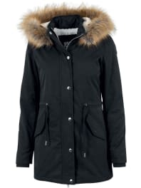 Urban ClassicsLadies Sherpa Lined Peached Parka Girl-Mantel schwarz