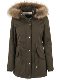 Urban ClassicsLadies Sherpa Lined Peached Parka Girl-Mantel oliv