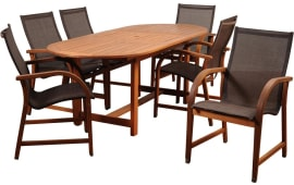 International Home InteriorsAmazonia Bahamas Extendable Rectangular Dining  Set (7 PC) Part 75