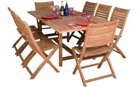 International Home InteriorsAmazonia Teak Dublin Dining Set (9 PC) Part 36