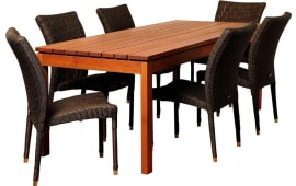International Home InteriorsJamison Rectangular Patio Dining Set (7 PC) Part 70
