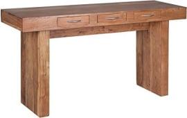 elegant affordable wohnling massivholz akazie konsole mit schubladen schreib tisch x with esstisch cm breit with esstisch 80 cm breit - Erweiterbare Konsole Esstisch