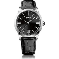 hugo boss watches for men 72 products stylight hugo bosspolished stainless steel three hand quartz watch black sunray dial