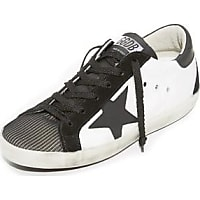 Golden Goose Womens Lace-Up Sneakers in Gray - Golden Goose Outlet