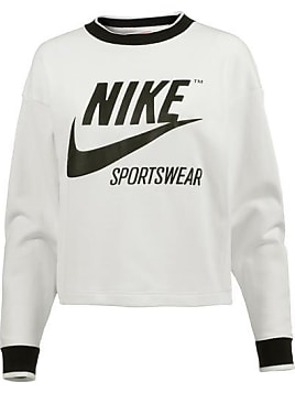 cozy fresh online for sale new product Et 34ljq5ar Nike Femme Pull Blanc Noir zMUpSV