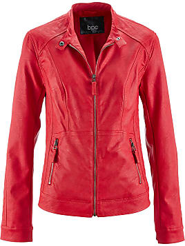 Veste simili cuir femme rouge