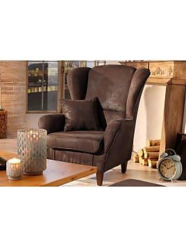 ohrensessel in braun 11 produkte sale bis zu 20 stylight. Black Bedroom Furniture Sets. Home Design Ideas
