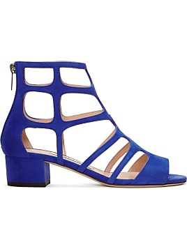 Jimmy Choo Woman Kathleen Metallic-trimmed Suede Platform Sandals Indigo Size 35 Jimmy Choo London