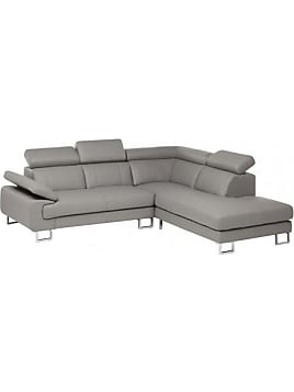 Moderne eckcouch grau  Leather Sofas: 703 Items − Sale: up to −51% | Stylight