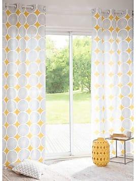 rideau de cuisine nuances de jaune photo. Black Bedroom Furniture Sets. Home Design Ideas