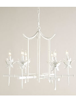 Chandeliers now up to 50 stylight bamboo motif 6 light chandelier white neiman marcus mozeypictures Gallery