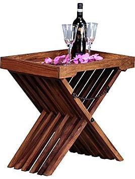 Beistelltisch Massivholz Sheesham Design Klapptisch Serviertablett Und Tisch Gestell Klappbar Mit Kette Landhaus Stil