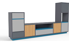 tv m bel in grau jetzt bis zu 44 stylight. Black Bedroom Furniture Sets. Home Design Ideas