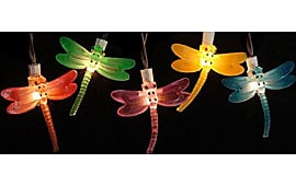 Sienna Sienna Battery Operated Led Dragonfly Garden Patio Umbrella Lights  With Timer Set Of 10.