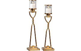 uttermost susana gold s2 - Gold Candle Holders