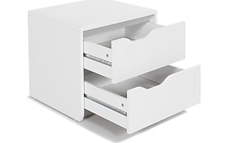 alina table de chevet blanche 2 tiroirs - Table De Nuit Alinea