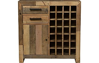 Angora Furniture Collection Angora Natural Reclaimed Wood 28 Bottle Wine  Cabinet