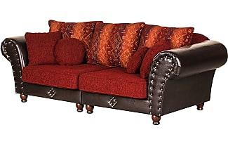 Big Sofa Kunstleder Braun Zuhause Image Idee