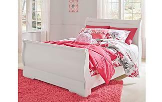 ashley furniture anarasia full sleigh bed by ashley homestore white