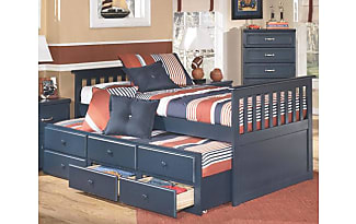 Ashley Furniture Leo Twin Trundle Bed By Ashley HomeStore, Blue