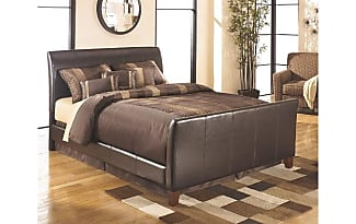 ashley furniture stanwick queen upholstered bed by ashley homestore brown