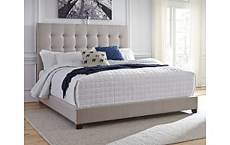 ashley furniture dolante queen upholstered bed by ashley homestore tan