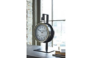 Ashley Furniture Home Accents Table Clock By Ashley HomeStore, Bronze Finish