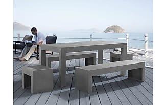 Beliani Gartenmöbel Set Beton 8 Sitzer TARANTO