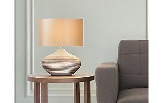 beliani tischleuchte braun 42 cm lima - Nachttischlampen
