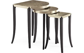 Caracole Silver Leaf Nesting Tables (Set Of 3)