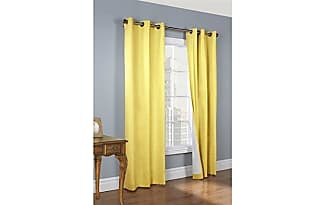 home fashions thermalogic weathermate insulated grommets cotton curtain panels 80 x 54 yellow