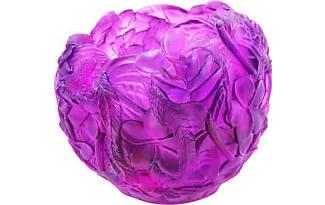 Daum Bouquet Vase Red Purple