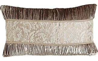 dian austin couture home french chantilly ruched velvet pillow with lace center 15 x 26