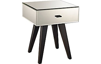 elk group dimond home modern mirror leg side table 14 x