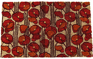 Entryways Poppies Non Slip Coir Doormat