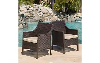 dining room rattan chairs. gdf studio orchard outdoor brown wicker dining chair w/ cushion (set of 2) room rattan chairs
