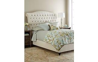 Haute House Home Harper Tufted Ivory Velvet California King Bed
