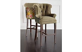 Haute House Home Peacock Tufted Barstool