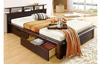 HOME AFFAIRE Bett, »Finja«, Braun, 160/200cm, Kolonialfarben