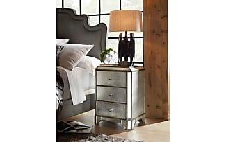 hooker furniture visage eglomise mirrored nightstand
