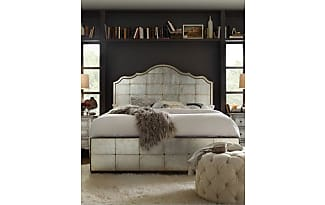 hooker furniture visage eglomise mirrored panel bed queen - Mirrored Bed Frame