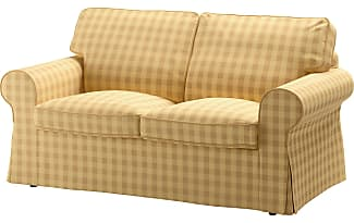IKEA EKTORP, 2er Sofa, Skaftarp Gelb, Gelb