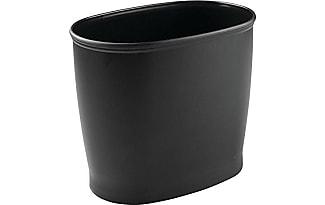 InterDesign 93447EU Kent Badezimmer Ovaler Abfalleimer Mülleimer Für Bad,  Küche, Büro   Schwarz,