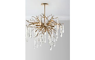 Chandeliers by john richard now shop up to 25 stylight john richard brass and glass teardrop 7 light chandelier mozeypictures Gallery