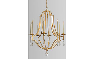 Chandeliers in gold 857 items sale up to 25 stylight john richard gold leaf crystal 8 light chandelier aloadofball Image collections